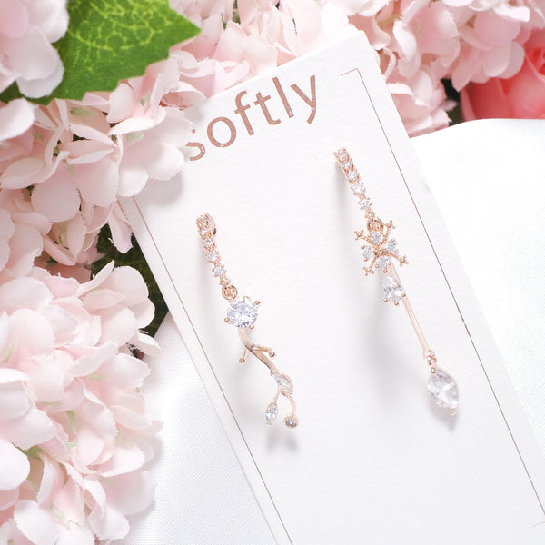 Olivia Shine Ice Flower Earrings