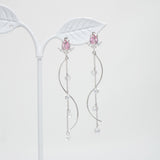 Pink Tulip Earrings