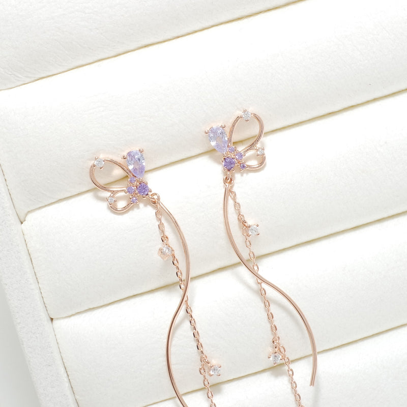 Violet Mariposa Earrings