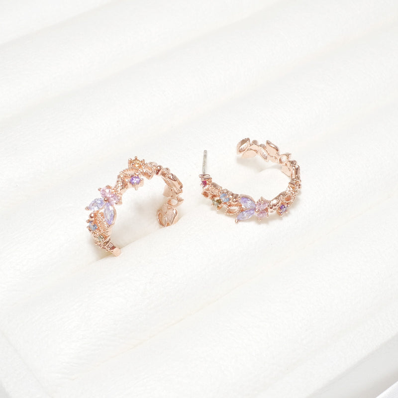 Candy Crush Round Hook Earring [Two-two]