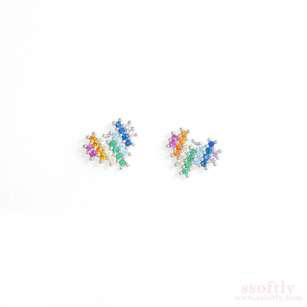 Rainbow In Heart Earrings [Rainbow Collection]