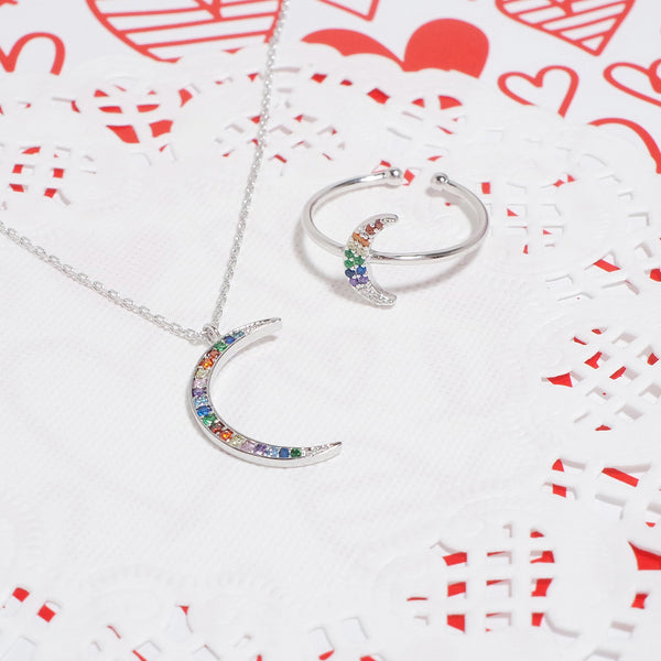 Midnight Moon Necklace [Rainbow Collection]