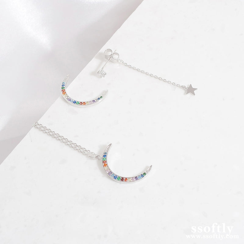 Midnight Moon Earrings [Rainbow Collection]