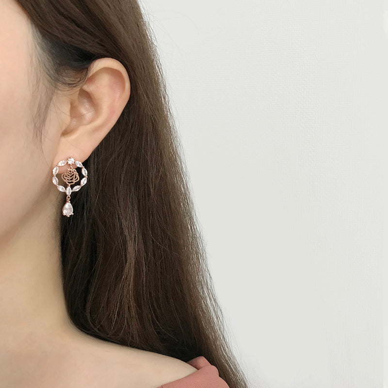 Rose Serenade Earrings [Two-two]