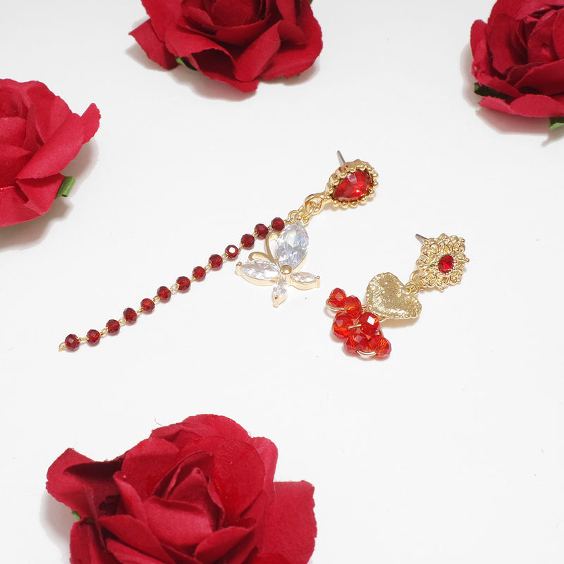 Phoenix's Red Rubies Earrings