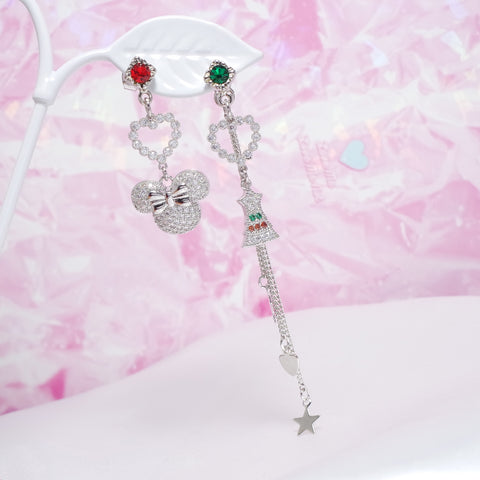 Mini Love Jingle Bell Earrings  [Ssoftly's Winter]