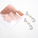 Clear Water Drop Earrings [Touch Your Heart]