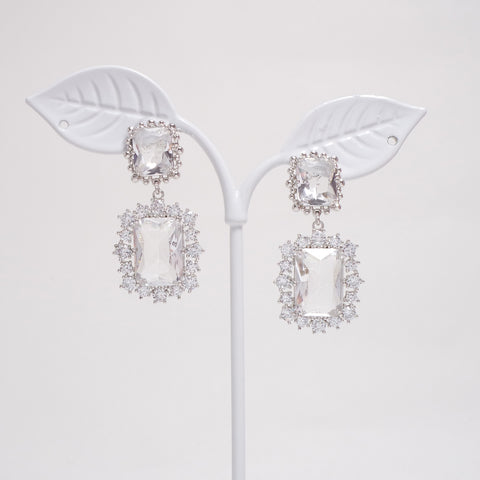 Square Crystal Earrings [Her Private Life]
