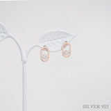 Oval Diamond Stud Earrings [Modern]