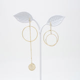 Liza Silver Round Earrings