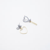 Shu Heart Ribbon Earrings