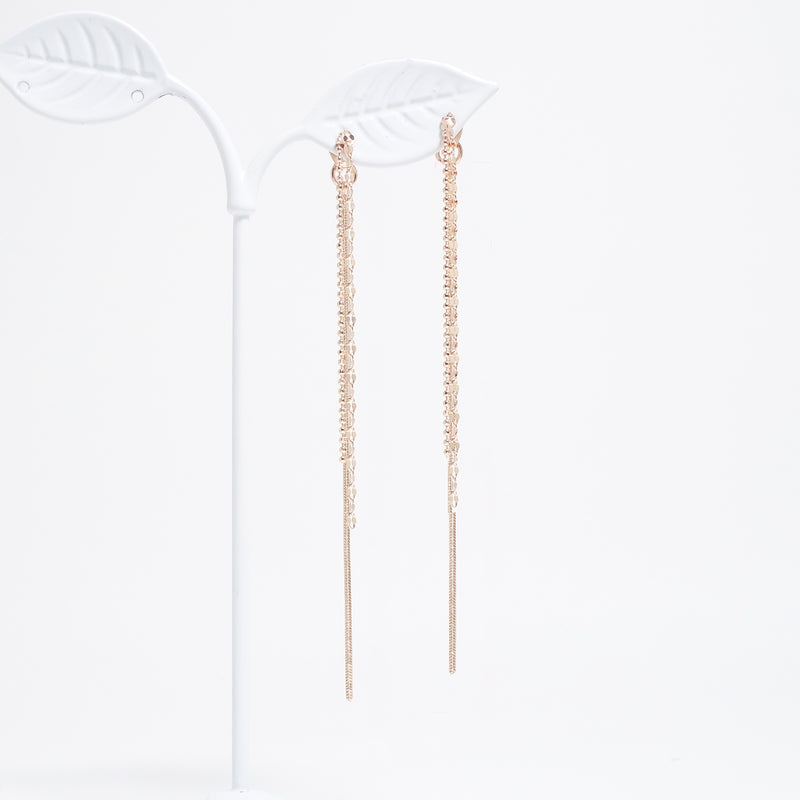 Long Chain Layered Earrings [Del Luna]