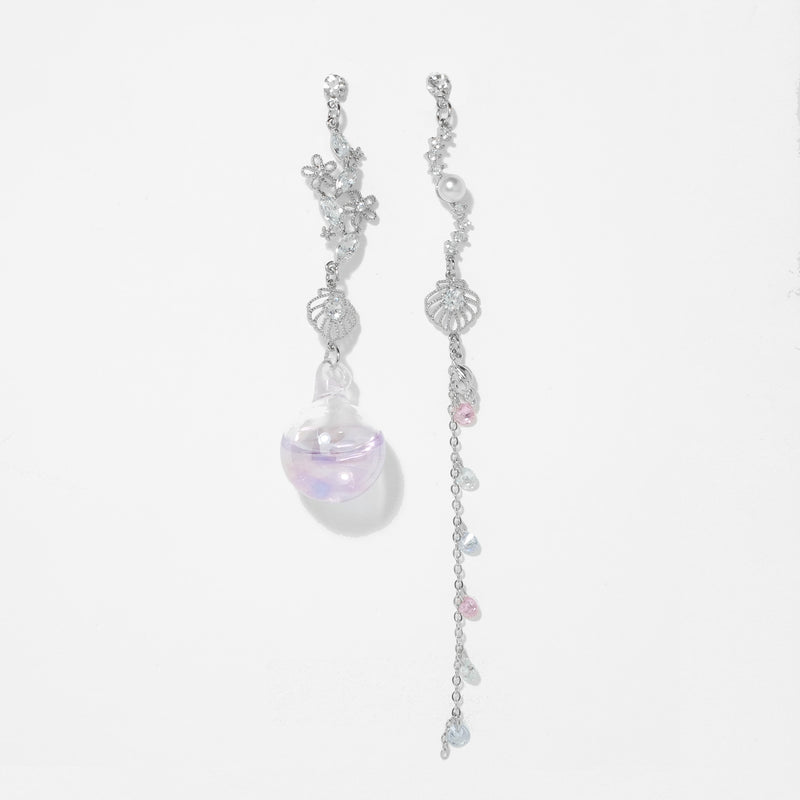 The Imaginary Sea Earrings In Violet