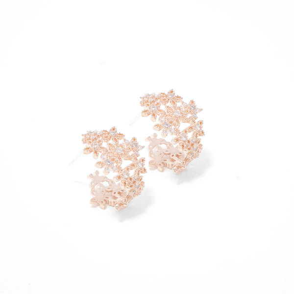 Flower Waltz Lacy Earrings  [Two-two]
