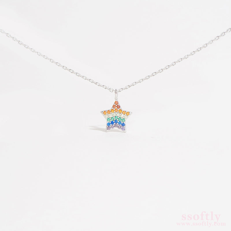 Star of Wish Necklace [Rainbow Collection]