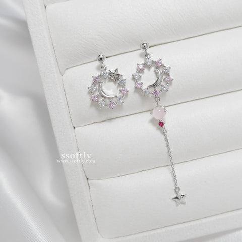 Sweet Peach Night Earrings [Two Two]