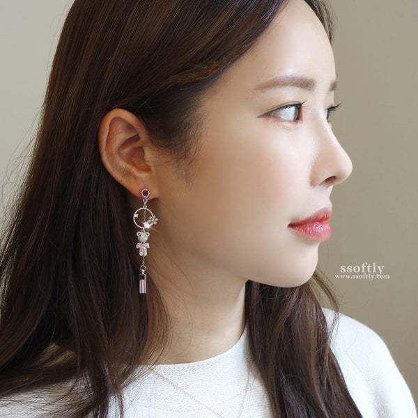 The Little Teddy Bear Earrings (Pink Bear)