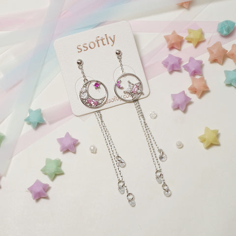 The Night Sky For You Earrings [Fly me to the moon]