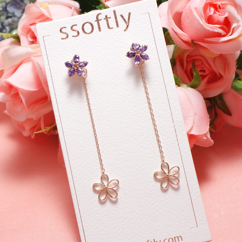 Violet Fragrance Earrings [Online Exclusive]