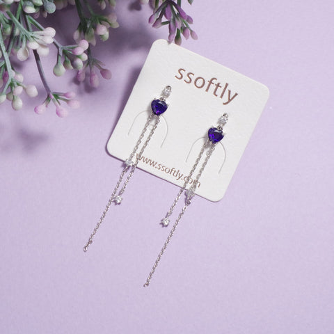 Violet Love Earring
