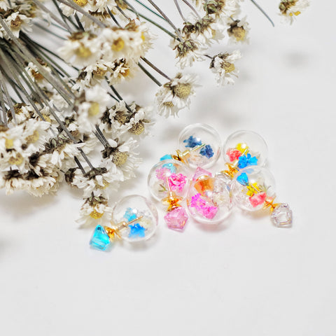 Floria Seasonal Romantic Flower Ball Earrings