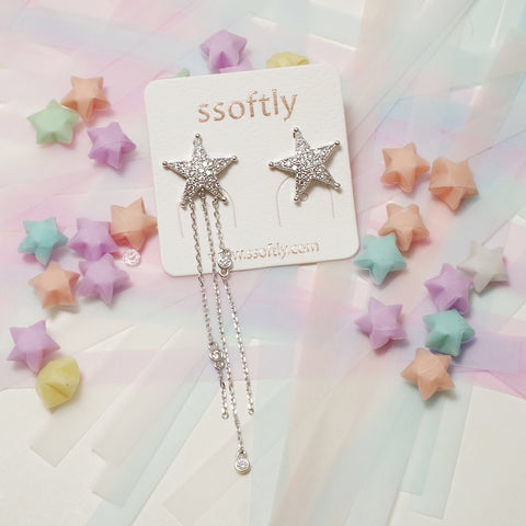 Point To Shooting Star Earrings [Fly me to the moon]