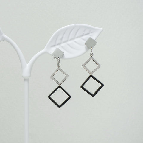 Monica Stainless Steel Earrings [Black & Chic Collection]