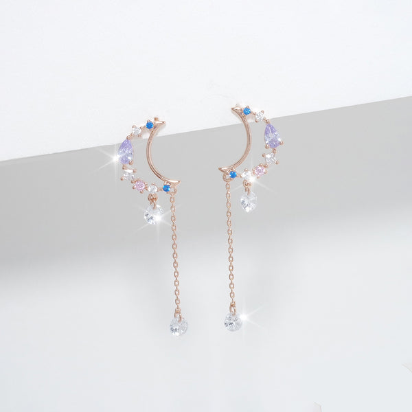 Delight Moon Earrings [Two-two]