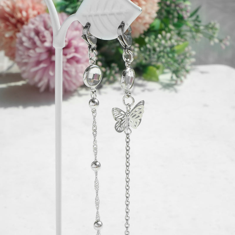 The Single Butterfly Mask Strap [Stainless Steel]