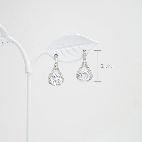 Amiee Elegance Water Drop Diamond Earrings [Del Luna]