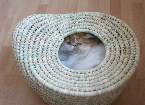 Benji + Moon | Woven Cat Pod Basket