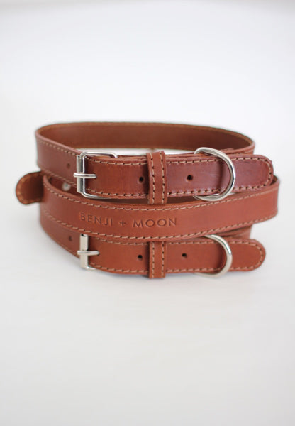 Limited Edition Tan Leather Dog Collar