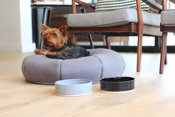 Benji + Moon | Large Ceramic Cat or Dog Bowl
