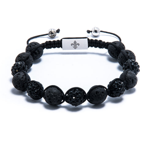 Lavastone & Black Crystal & Silver plated - Tra.Co - 1