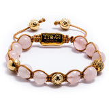 Rose Quartz & White Zircon ball & Logo ball & 14K Gold plating - Tra.Co - 1