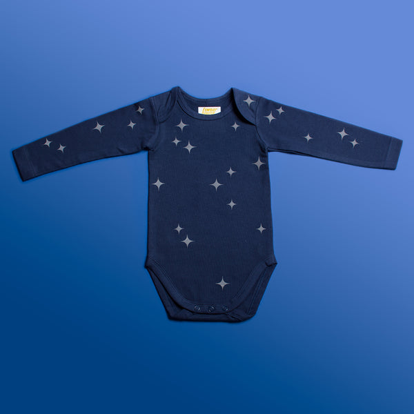 Starry Night Reflective - Organic Longsleeve Romper