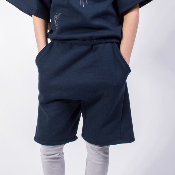 Twisted Shorts-Navy-Organic