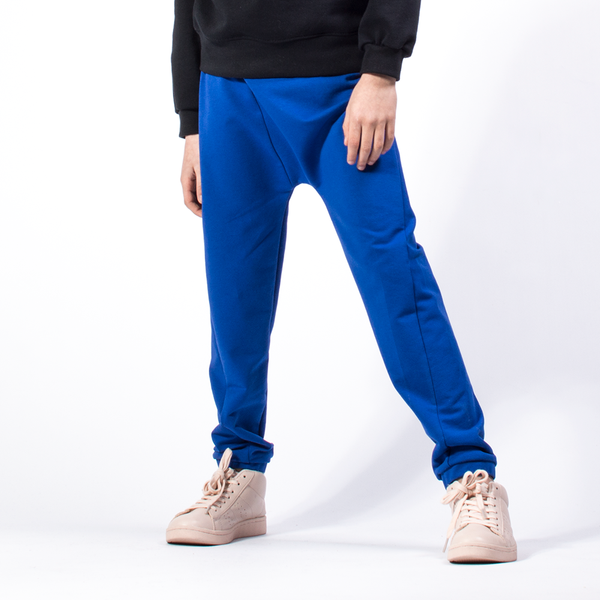 Twisted Trousers-Royal Blue