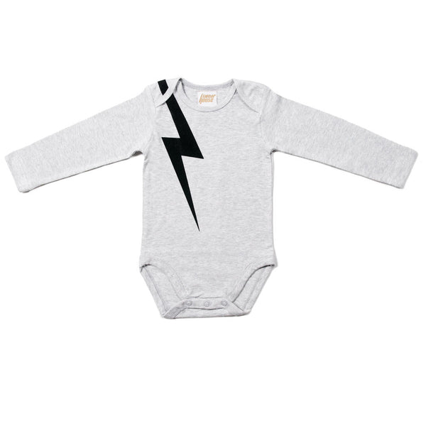 And there was lightning - Organic Longsleeve Romper