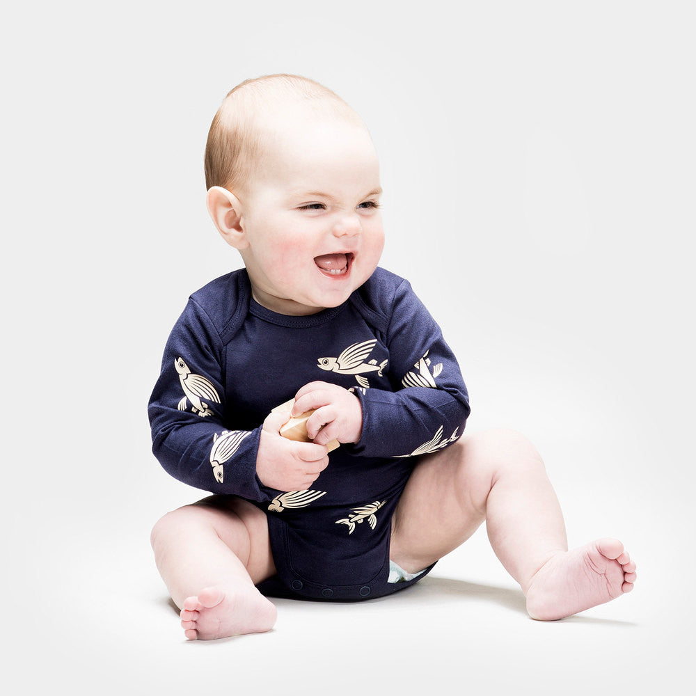 Flying Fish - Organic Longsleeve Romper
