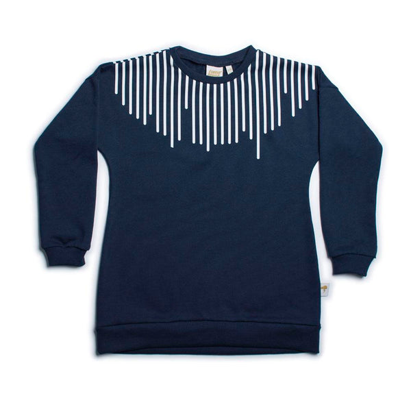 Stripes Navy - Organic Sweater Dress