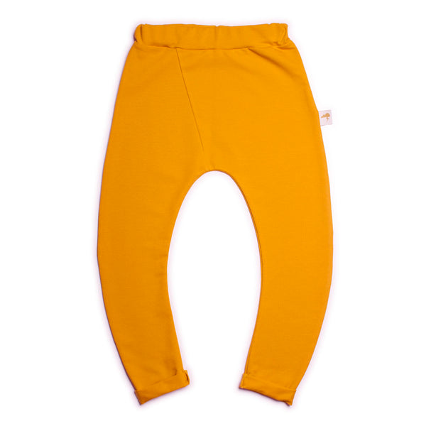 Curved Trousers- Mustard