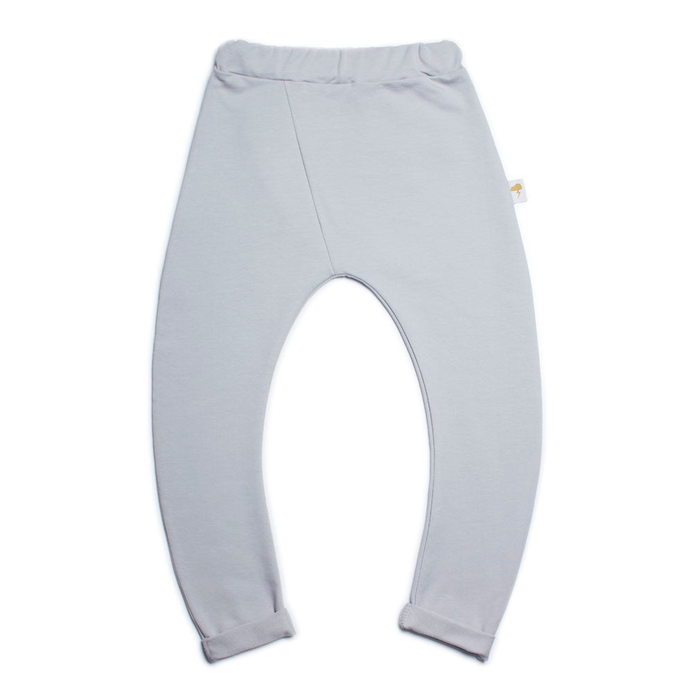 Curved Trousers- Silvergrey
