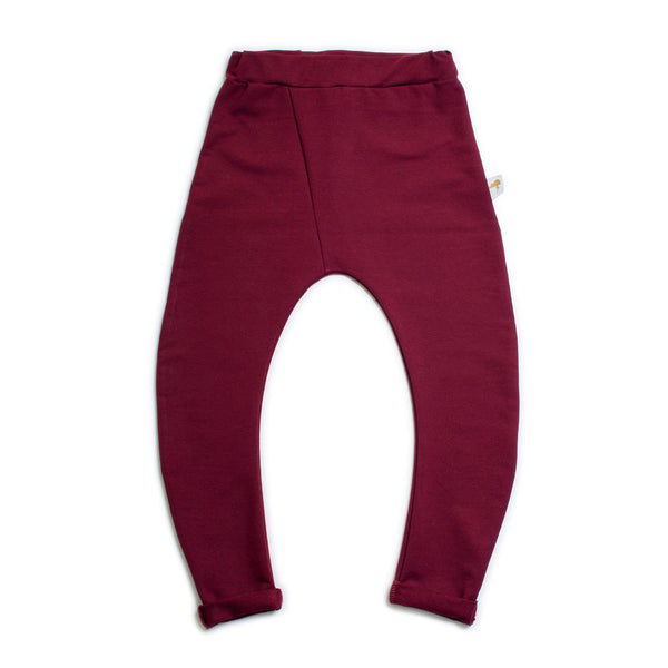 Curved Trousers- Wine