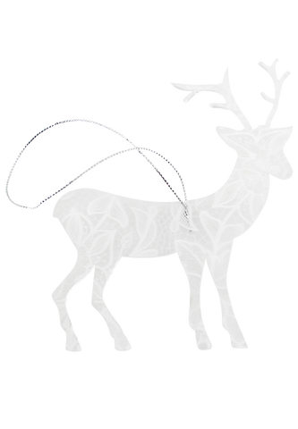 Clear Lace Christmas deer