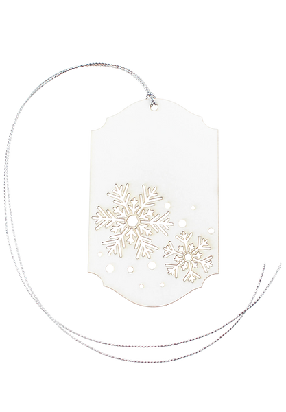 Snowflake Christmas Tag - Pack of 5