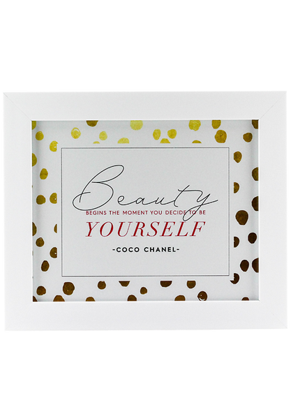 Beauty Begins Poster - Gold Dot Edition