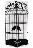 Black Birdcage Invitation