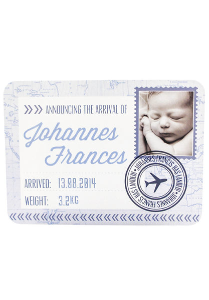Baby Has Landed - Birth Annoucement Card