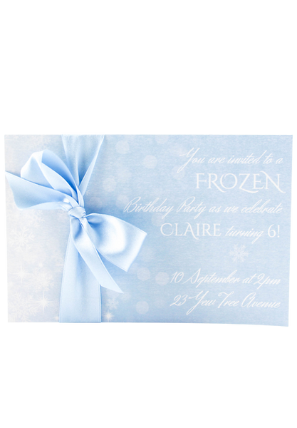 Frozen Invitation Card
